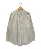 PAPAS(パパス)の古着「チェックシャツ」 ベージュ×ブルー