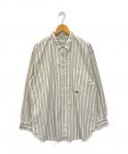 PAPAS(パパス)の古着「ストライプシャツ」 ブルー×ベージュ