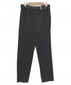 ISSEY MIYAKE MEN(イッセイミヤケメン)の古着「ベルテッドジャージートラウザー」|ブラック
