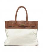 SITA PARANTICA(シータパランティカ)の古着「Cambus×Leather Toto bag(L)」 ブラウン×アイボリー