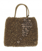 ANTEPRIMA(アンテプリマ)の古着「クローバー ワイヤーハンドバッグ」|ゴールド