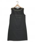 Fabiana Filippi(ファビアナフィリッピ)の古着「ノースリーブワンピース」 ブラック