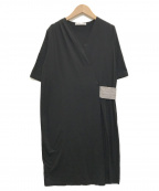 Fabiana Filippi(ファビアナフィリッピ)の古着「Vネックワンピース」 ブラック