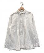 ARTS&SCIENCE(アーツアンドサイエンス)の古着「リネン混ピンタックシャツ」|ホワイト