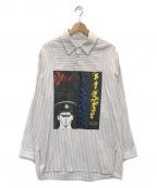 J.W. ANDERSON(ジェイダブリューアンダーソン)の古着「グラフィックプリントPOシャツ」|ホワイト×マルチカラー
