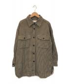 ()の古着「コットンチェックビッグシャツ」 ベージュ×ブラック