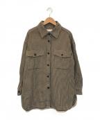 BEAUTY&YOUTH(ビューティアンドユース)の古着「コットンチェックビッグシャツ」 ベージュ×ブラック