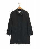 ()の古着「パーテックス ステンカラーコート」|ブラック