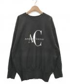 Americana(アメリカーナ)の古着「別注 AC ロゴプリント クルーネック スウェット」|グレー