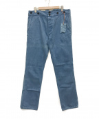 NUDIE JEANS(ヌーディジーンズ)の古着「KHAKI HIGH デニムパンツ」|スカイブルー