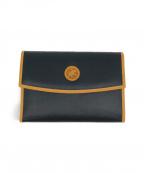 HUNTING WORLD(ハンティングワールド)の古着「バチュークロス 3つ折り財布」|ブラック×ベージュ