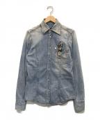 DSQUARED2(ディースクエアード)の古着「フラガールデニムシャツ」|インディゴ