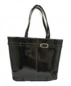Hamano(ハマノ)の古着「エナメルトートバッグ」 ブラック