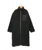 ()の古着「漆黒のボアコート」|ブラック