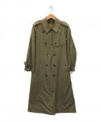 Burberry's(バーバリーズ)の古着「[古着] ノヴァチェックライナー付トレンチコート」|オリーブ