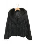 ()の古着「ラビットファージャケット」|ブラック