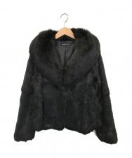 STRAWBERRY FIELDS (ストロベリーフィールズ) ラビットファージャケット ブラック サイズ:2