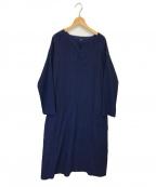 pas de calais(パドカレ)の古着「藍染刺子ワンピース」|ブルー