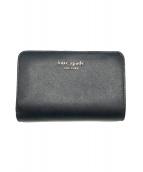()の古着「スペンサー コンパクト 2つ折り財布」|ブラック×ピンク