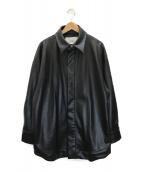 ()の古着「ビッグシャツジャケット」 ブラック