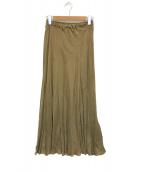 ()の古着「Fibril ギャザーロングスカート」|ブラウン