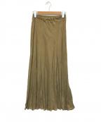 Plage(プラージュ)の古着「Fibril ギャザーロングスカート」|ブラウン