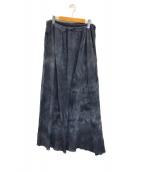 ()の古着「タイダイ マキシスカート」|グレー
