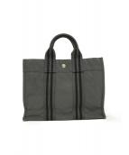()の古着「フールトウPM キャンバス ハンドバッグ」|グレー×ブラック