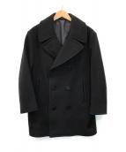 ()の古着「メルトンPコート」|ブラック