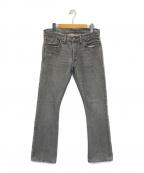 RRL(ダブルアールエル)の古着「SLIM BOOT デニムパンツ」|グレー