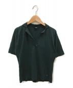 ()の古着「コットンニット半袖シャツ」|グリーン