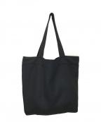 ATON(エイトン)の古着「ビッグサイズ メルトン トートバッグ」|ブラック