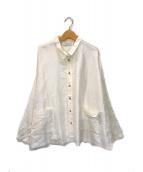 ()の古着「シルクワイドシャツ」 ホワイト