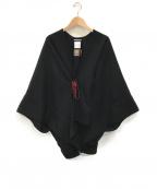 SOU・SOU(ソウソウ)の古着「カシミヤブレンドウール きさらぎポンチョ」|ブラック