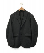 ()の古着「メカニカル ウール 2ボタン ジャケット」 グレー