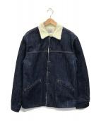 ()の古着「デニム 裏ボア ランチジャケット」 インディゴ