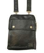 PORTER(ポーター)の古着「高密度キャンバス ショルダーバッグ」|ブラック