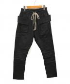 mnml(ミニマル)の古着「Drop Crotch Cargo Pants/カーゴパンツ」|ブラック