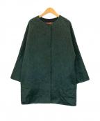 Max Mara Studio(マックスマーラ ストゥディオ)の古着「アルパカ混シャギーミドルコート」 グリーン