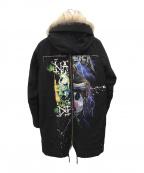 FR(13)NDS×COTE MER(フレンズ×コートメール)の古着「ラクーンファーリメイクモッズコート」|ブラック