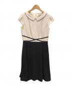TOCCA(トッカ)の古着「LUMINOUS ドレス」|アイボリー×ブラック
