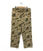 YOKE(ヨーク)の古着「WIDE PAJAMA PANTS」|ベージュ