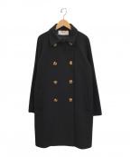 MUVEIL(ミュベール)の古着「かざりボタン付コート」|ブラック
