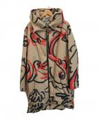 Vivienne Westwood man(ヴィヴィアン ウェストウッド マン)の古着「グラフィティORB モアパーカー」|ベージュ