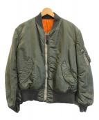 ()の古着「MA-1フライトジャケット」|オリーブ×オレンジ