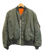 US MILITARY(USミリタリー)の古着「MA-1フライトジャケット」|オリーブ×オレンジ