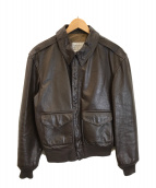 ()の古着「A‐2レザージャケット」|ブラウン