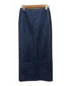()の古着「コットンデニム Iラインマキシスカート」|インディゴ