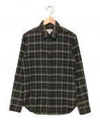 Martin Margiela 10(マルタンマルジェラ 10)の古着「オンブレチェックレギュラーシャツ」|グレー