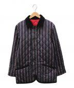 MACKINTOSH PHILOSOPHY()の古着「リバーシブルキルティングダウンコート」|ネイビー×レッド